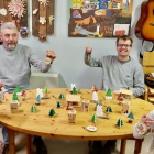 Riverstown's Bubble Woodworkers preparing goods for the Craft Fair