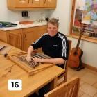 David busy weaving